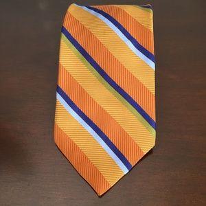 Men's Silk Neck Tie, Orange & Blue